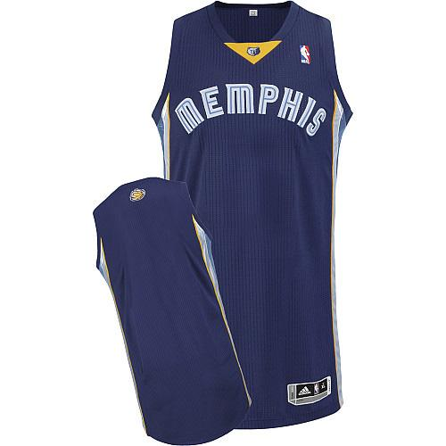Revolution 30 Grizzlies Blank Dark Blue Stitched NBA Jersey