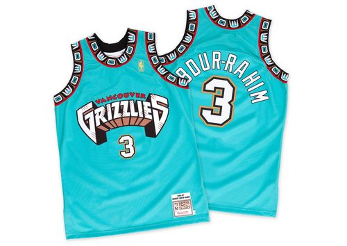 Grizzlies #3 Shareef Abdur-Rahim Green Hardwood Classics Throwback Stitched NBA Jersey