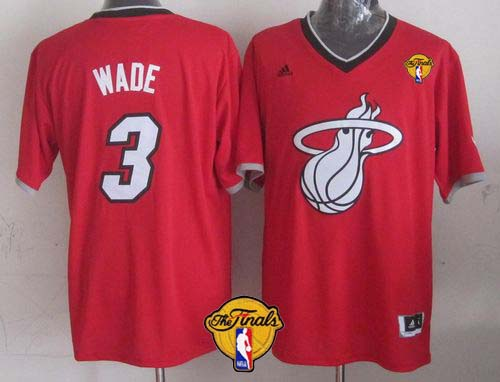 Heat #3 Dwyane Wade Red 2013 Christmas Day Swingman Finals Patch Stitched NBA Jersey