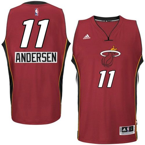 Heat #11 Chris Andersen Red 2014-15 Christmas Day Stitched NBA Jersey