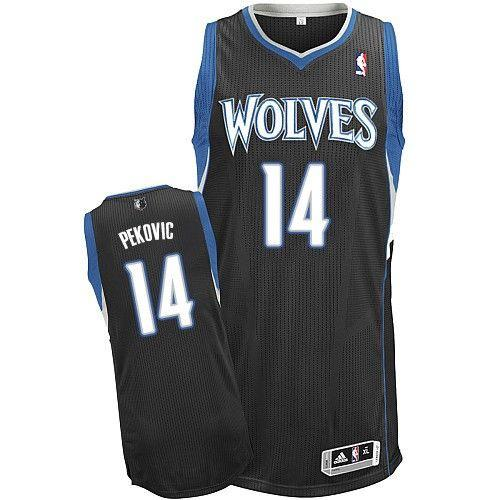 Revolution 30 Timberwolves #14 Nikola Pekovic Black Stitched NBA Jersey