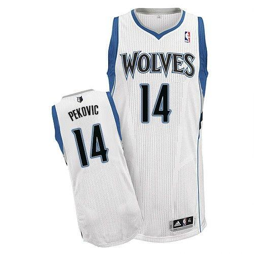 Revolution 30 Timberwolves #14 Nikola Pekovic White Stitched NBA Jersey
