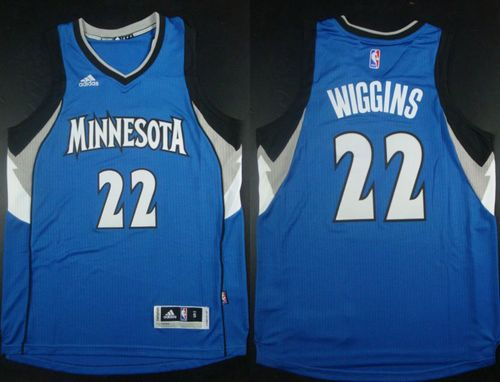 Revolution 30 Timberwolves #22 Andrew Wiggins Blue Stitched NBA Jersey