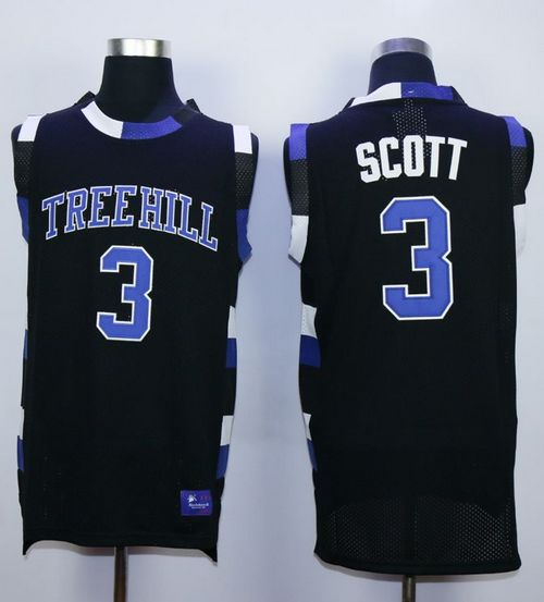 One Tree Hill Ravens #3 Lucas Scott Black Stitched Basketball Jersey