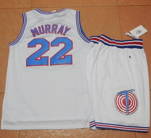Space Jam Tune Squad #22 Bill Murray White Stitched Basketball Jersey