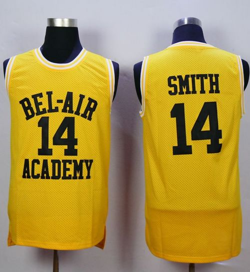 Bel-Air Academy #14 Smith Gold Stitched Basketball Jersey