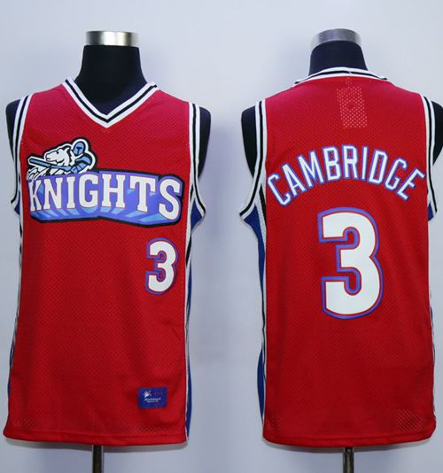 Like Mike Movie Los Angeles Knights #3 Calvin Cambridge Red Stitched Basketball Jersey