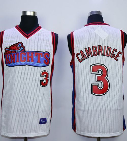 Like Mike Movie Los Angeles Knights #3 Calvin Cambridge White Stitched Basketball Jersey