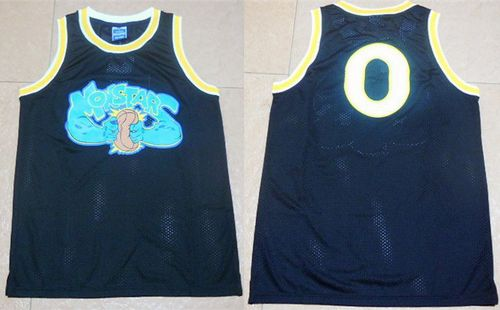 Space Jam Monstars #0 Black Stitched Basketball Jersey