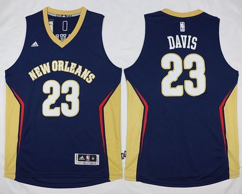 Revolution 30 Pelicans #23 Anthony Davis Navy Stitched NBA Jersey