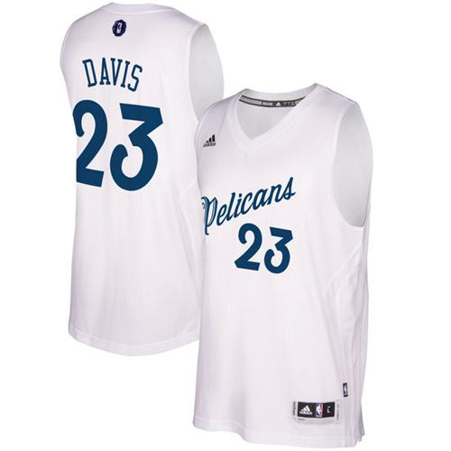Pelicans #23 Anthony Davis White 2016-2017 Christmas Day Stitched NBA Jersey