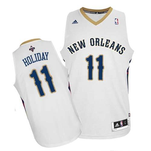 Revolution 30 Pelicans #11 Jrue Holiday White Stitched NBA Jersey