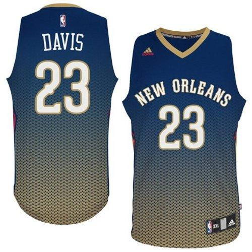 Pelicans #23 Anthony Davis Navy Resonate Fashion Swingman Stitched NBA Jersey