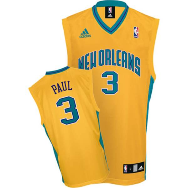 Hornets #3 Chris Paul Stitched Yellow NBA Jersey