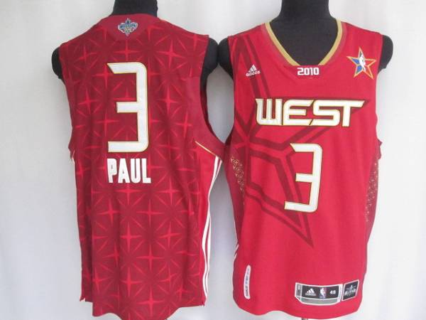 Hornets #3 Chris Paul Stitched Red 2010 All Star NBA Jersey