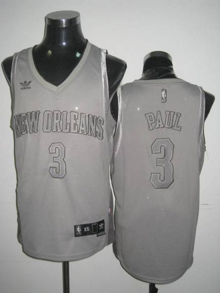 Hornets #3 Chris Paul Stitched Grey Anniversary Style NBA Jersey
