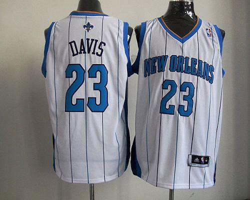 Revolution 30 Hornets #23 Anthony Davis White Stitched NBA Jersey