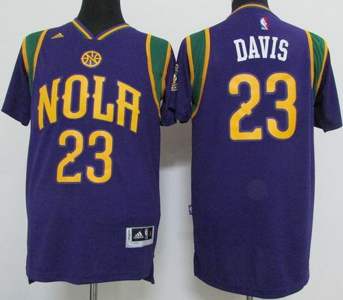 Pelicans #23 Anthony Davis Purple Pride Stitched NBA Jersey