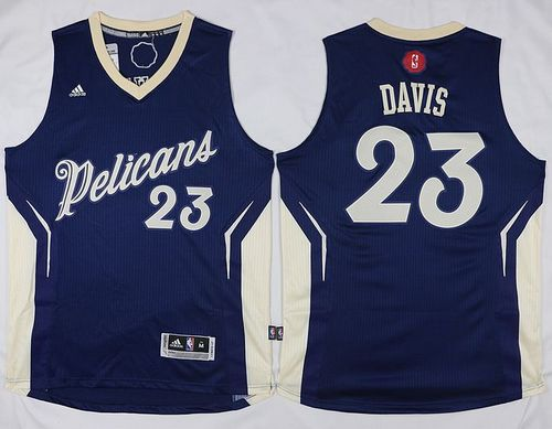Pelicans #23 Anthony Davis Navy 2015-2016 Christmas Day Stitched NBA Jersey