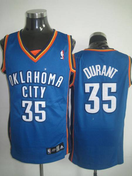 Thunder #35 Kevin Durant Stitched Blue NBA Jersey
