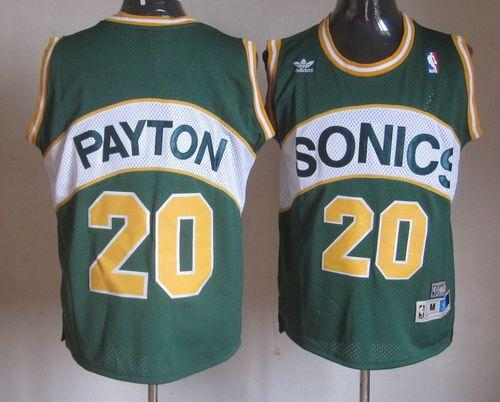 Thunder #20 Gary Payton Green Seattle SuperSonics Style Stitched NBA Jersey