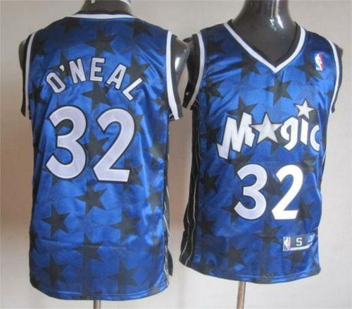 Magic #32 Shaquille O'Neal Blue All Star Stitched NBA Jersey