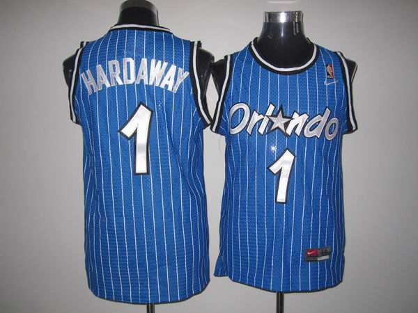 Magic #1 Penny Hardaway Stitched Blue Throwback NBA Jersey