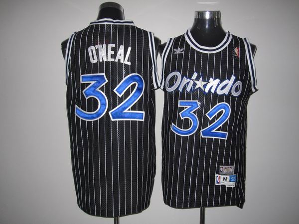 Mitchell And Ness Magic #32 Shaquille O'Neal Stitched Black Throwback NBA Jersey