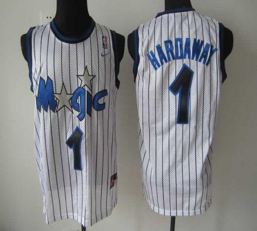 Magic #1 Penny Hardaway White Throwback Stitched NBA Jersey