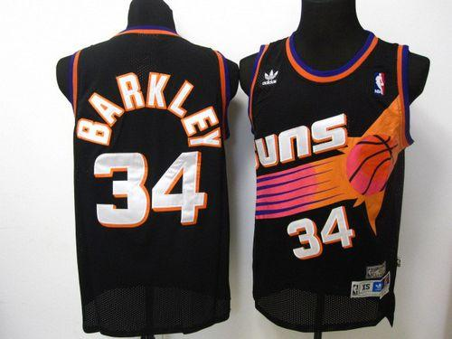 Suns #34 Charles Barkley Black Throwback Stitched NBA Jersey