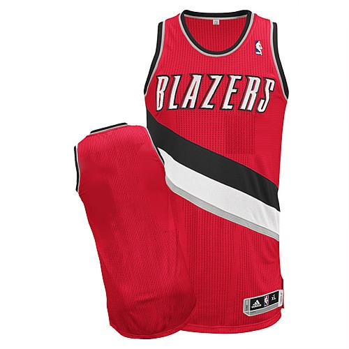 Revolution 30 Blazers Blank Red Stitched NBA Jersey