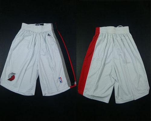 Portland Trail Blazers White Shorts