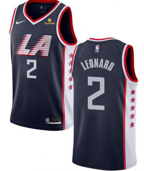 Men's Clippers #2 Kawhi Leonard Black Stitched NBA Jersey