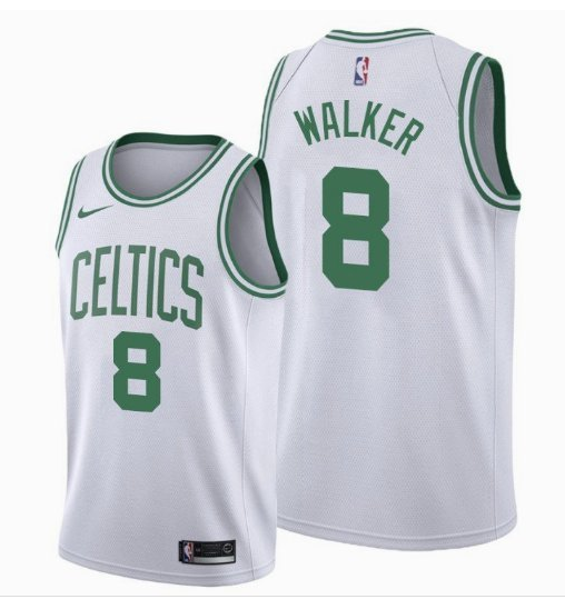 Men's Boston Celtics #8 Kemba Walker White Swingman Stitched NBA Jersey