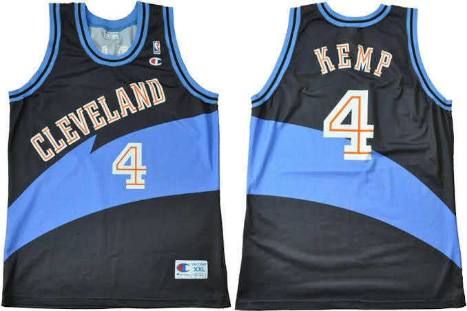 Men's Cleveland Cavaliers Blue #4 Shawn Kemp Stitched NBA Jersey