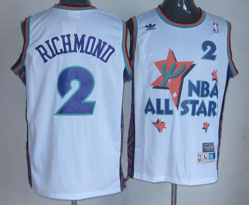 Kings #2 Mitch Richmond White 1995 All Star Throwback Stitched NBA Jersey