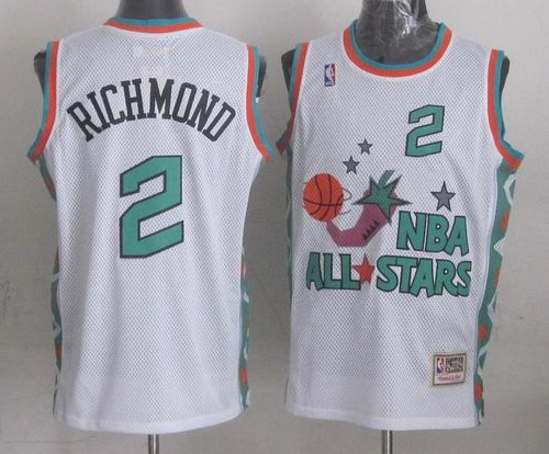 Mitchell And Ness Kings #2 Mitch Richmond White 1996 All star Stitched NBA Jersey