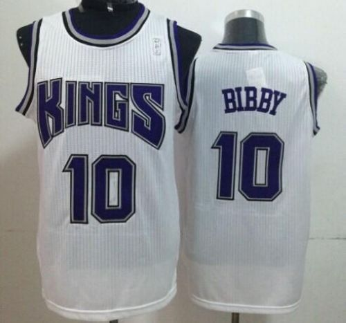 Kings #10 Mike Bibby White Throwback Stitched NBA Jersey