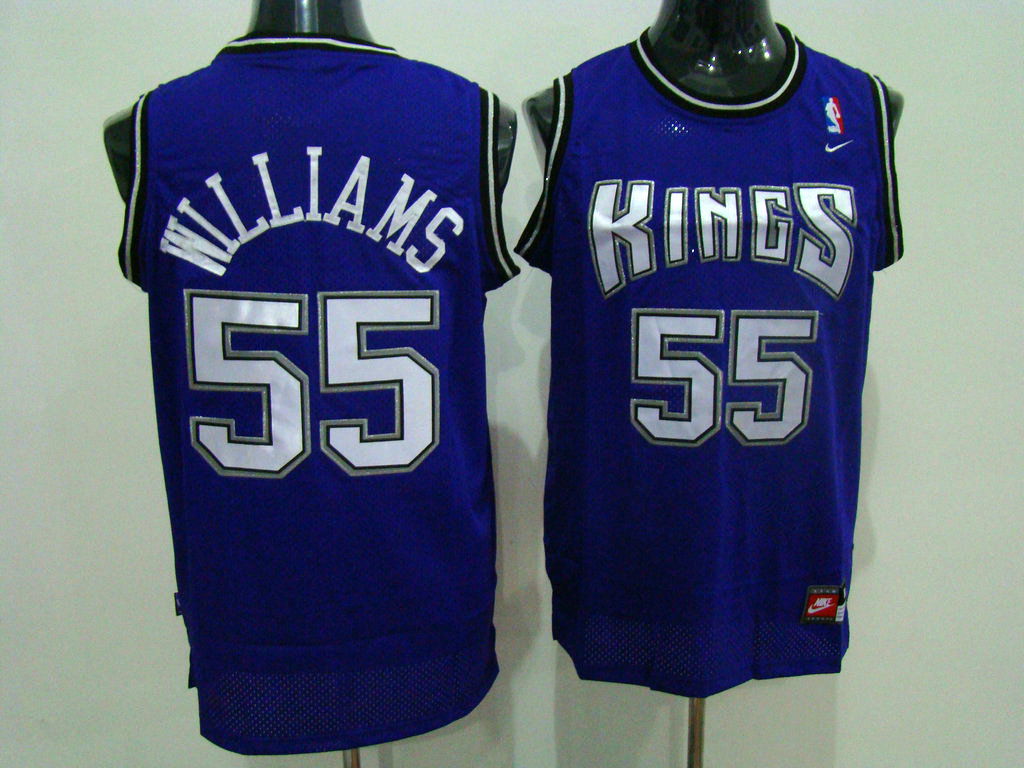 Kings #55 Jason Williams Stitched Purple NBA Jersey