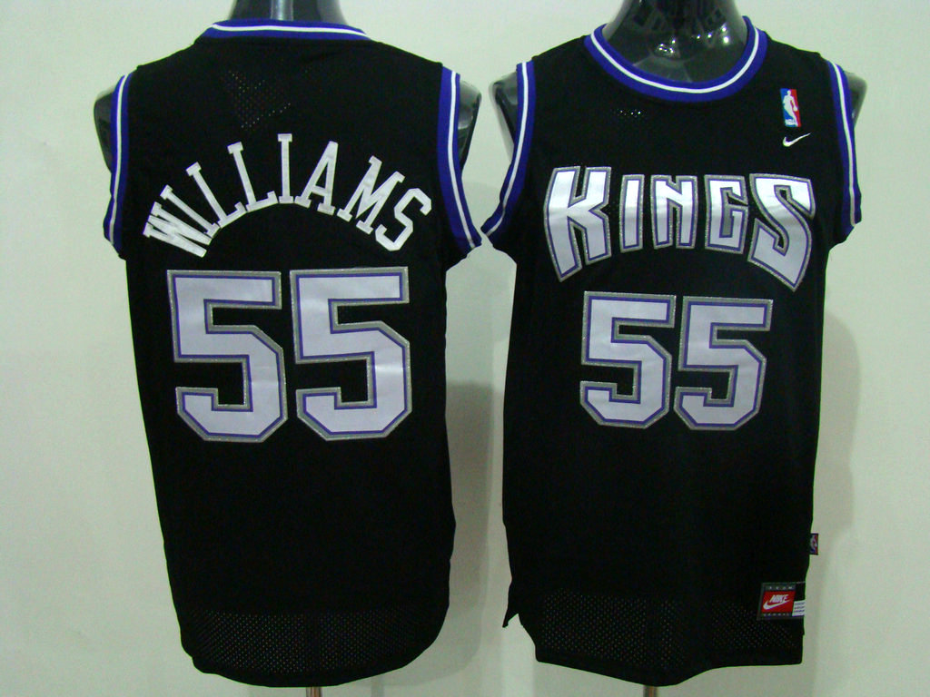Kings #55 Jason Williams Stitched Black NBA Jersey