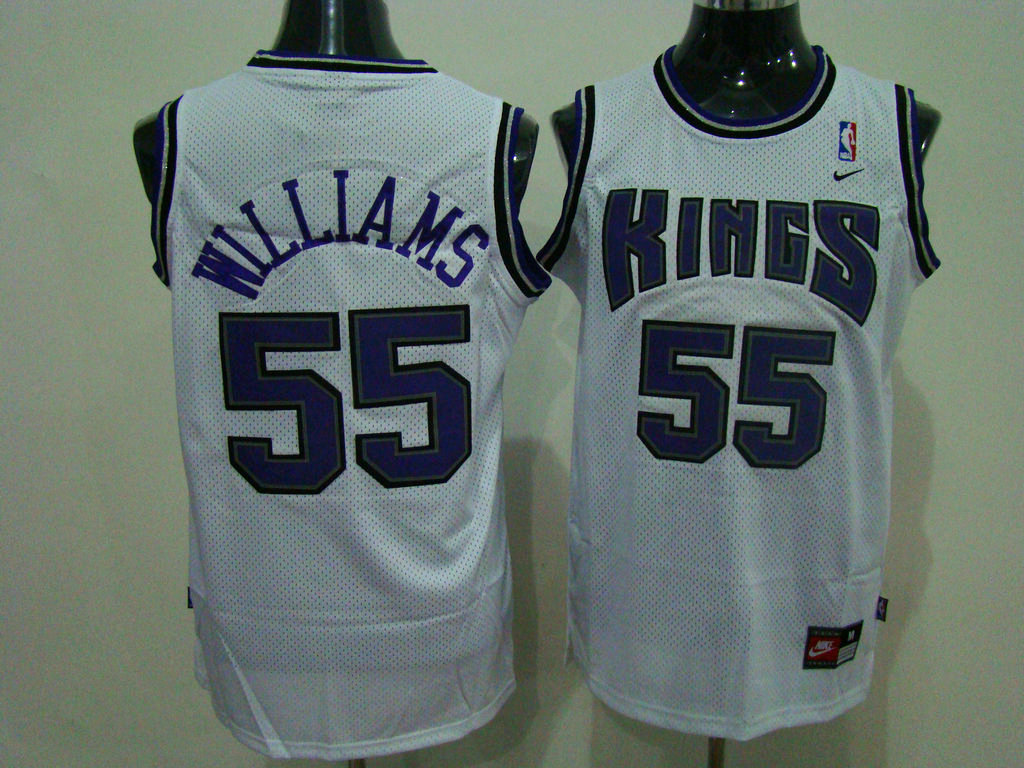 Kings #55 Jason Williams Stitched White NBA Jersey
