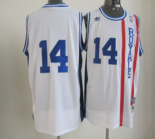 Kings #14 Oscar Robertson White Throwback Stitched NBA Jersey