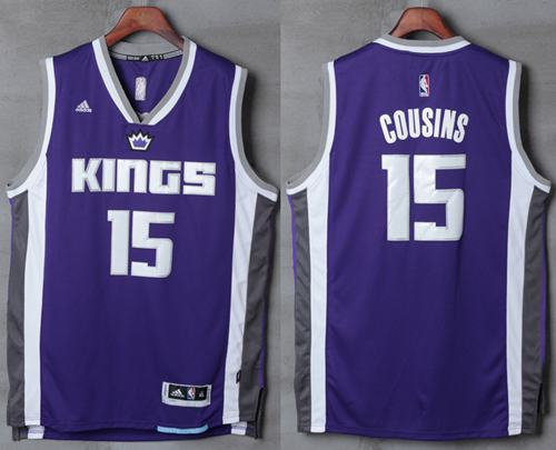 Kings #15 DeMarcus Cousins Purple New Stitched NBA Jersey