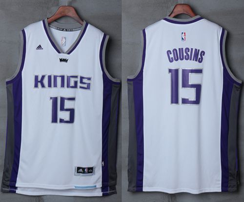Kings #15 DeMarcus Cousins White New Stitched NBA Jersey