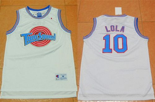 Space Jam Tune Squad #10 Lola Bunny White Movie Stitched Basketball Jersey