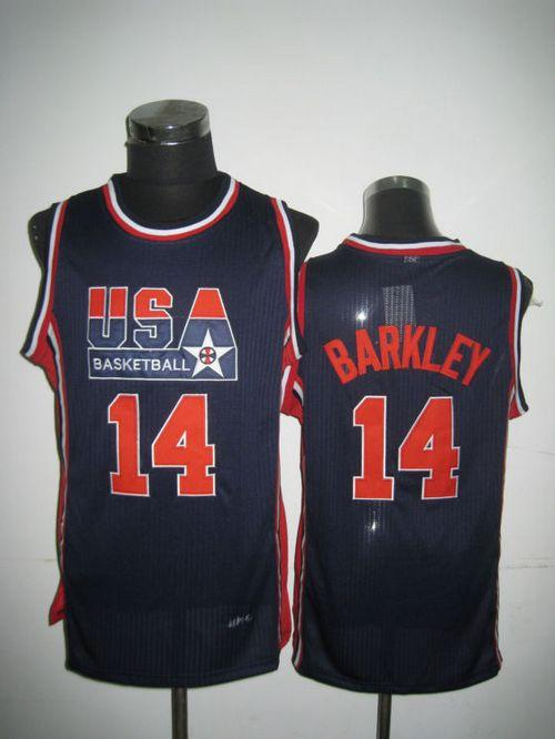 Team USA #14 Charles Barkley Dark Blue 2012 USA Basketball Retro Stitched NBA Jersey