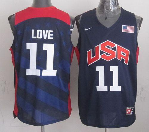 Nike 2012 Olympics Team USA #11 Kevin Love Dark Blue Stitched NBA Jersey