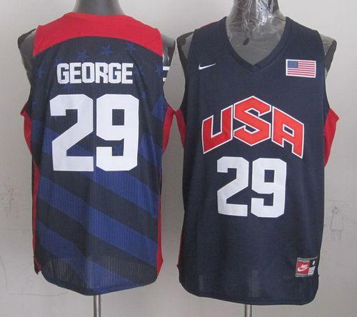Nike 2012 Olympics Team USA #29 Paul George Dark Blue Stitched NBA Jersey