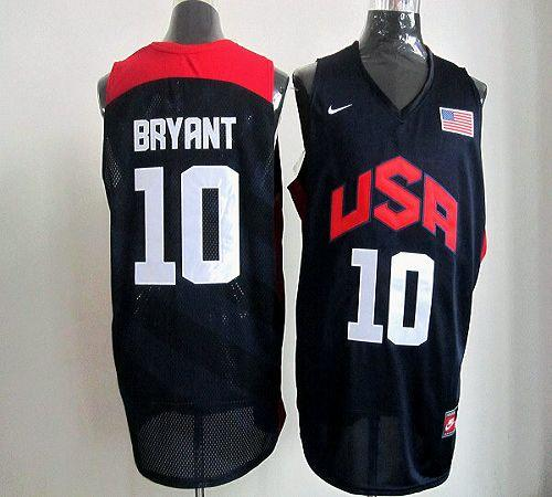 Nike 2012 Olympics Team USA #10 Kobe Bryant Dark Blue Stitched NBA Jersey