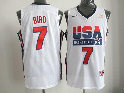 Nike Team USA #7 Larry Bird White 2012 USA Basketball Retro Stitched NBA Jersey